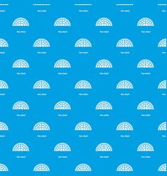 Fan chart pattern seamless blue vector