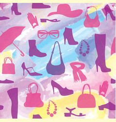 fashion aaccessory shoes seamless pattern season vector image