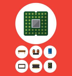 flat icon electronics set of bobbin unit display vector image
