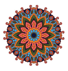 floral mandala pattern with vibrant colors vector image