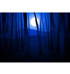 Full moon amongst trees vector