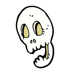 Funny comic cartoon skull vector