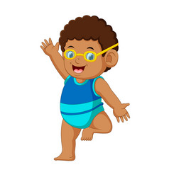 Funny little boy cartoon vector