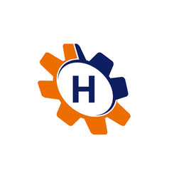 gear initial h vector image