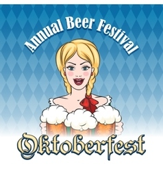 German beer festival Emblem vector image