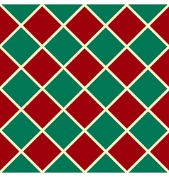 Green Red Grid Chess Board Diamond Background vector