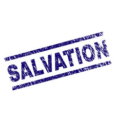 Grunge textured salvation stamp seal vector
