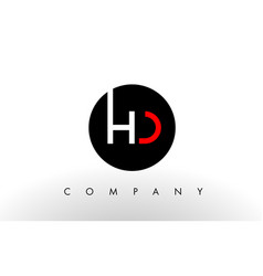 Hd logo letter design vector