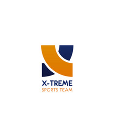icon for extreme sport team vector image