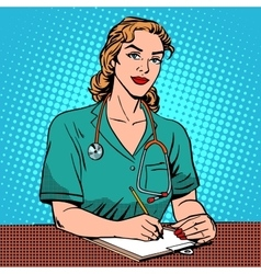 Intern front Desk at the hospital vector image