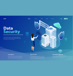 Internet security shield business concept vector