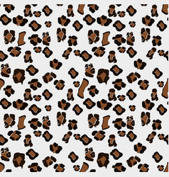 Leopard seamless pattern white and black seamless vector