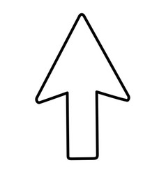 line arrow sign up direction icon vector image