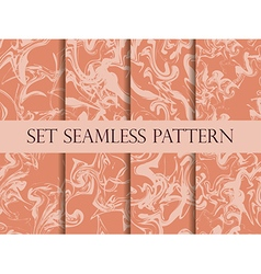 Marbling seamless pattern set vector
