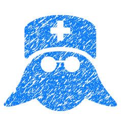 medical nurse head grunge icon vector image