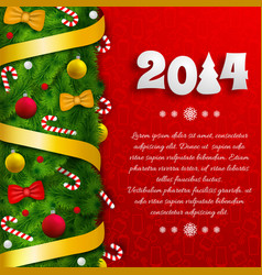 merry christmas festive poster vector image