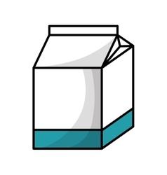 milk box carton isolated icon vector image