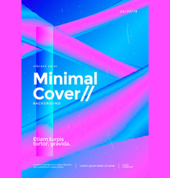 minimal poster design with holographic gradient vector image