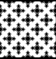 Monochrome floral geometric seamless pattern vector