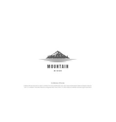 mountain with pine cedar conifer cypress vector image