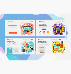 One page website kit for business consulting vector