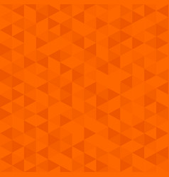 Orange color low poly background triangular vector