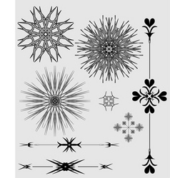 ornaments black and gray vector image