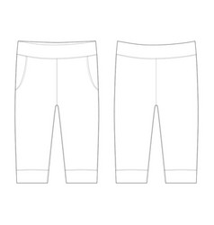 Pants flat trousers sketch baby clothes of a vector