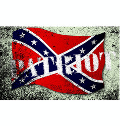 Patriot confederate flag vector
