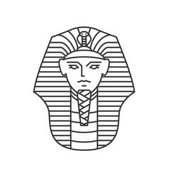 Pharaoh logo artwork line art outline monoline vector