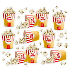 popcorn pattern realistic 3d detailed vector image