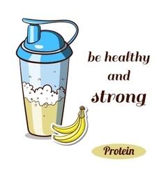 Protein Shaker Banana vector