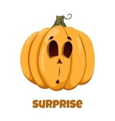 Pumpkin for Halloween Emotions Surprise vector