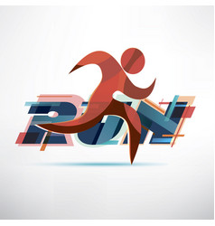 Running people logo template sport and activity vector