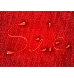 Sale on texture background vector image