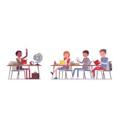 School normal behaviour vector