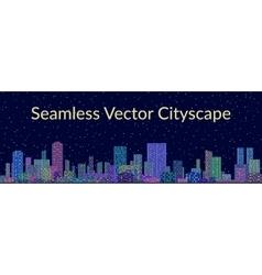 Seamless night city landscape vector