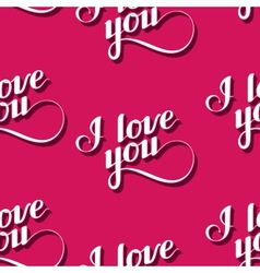 seamless pattern of handwritten I love you vector image