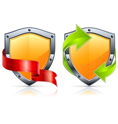 Security shield icons vector
