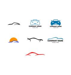 set car logo template vector image