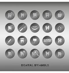 Set dentistry symbols vector
