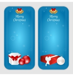 Set of two vertical banners with Christmas balls vector image