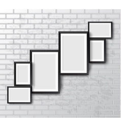 Set Realistic frame vector image vector image