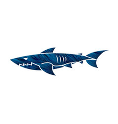 shark swim graphic vector image