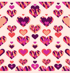 simple seamless pattern with heart symbol eps 10 vector image