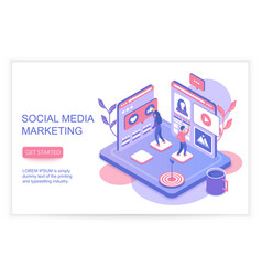 social media marketing infographics concept vector image