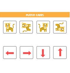Spatial orientation for kids cute cartoon leopard vector