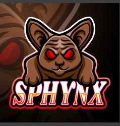 sphynx esport logo mascot design vector image
