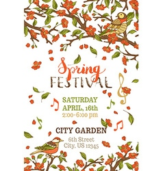 Spring festival template vector