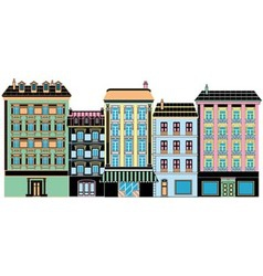 stylized ancient houses vector image